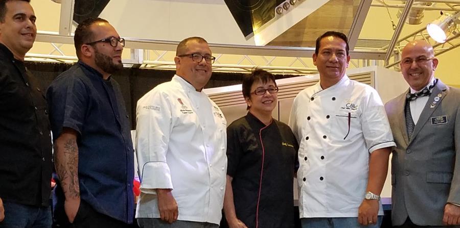 Algunos de los chefs que participan en Plaza Food Fest:  Leo Mendoza, Gustavo Estrada, Elvin Rosado, Lorraine Colón, Mike Pereira y Jorge López, de Gourmet Business Solutions. (Suministrada) (horizontal-x3)