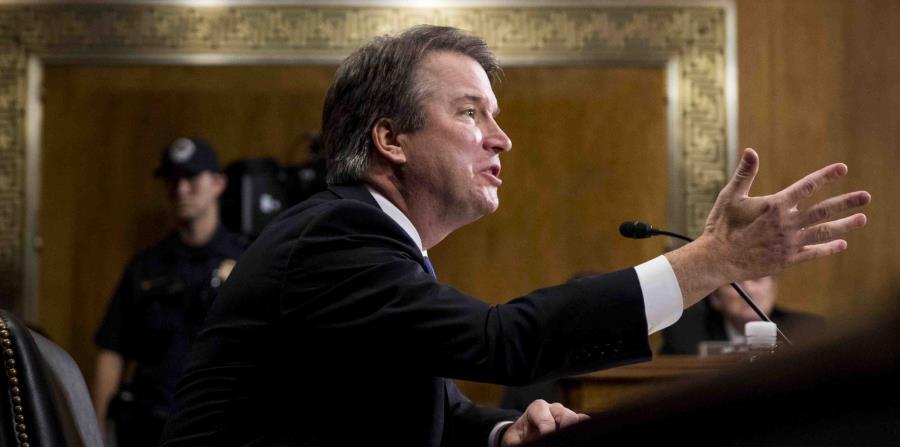 Brett Kavanaugh testifica ante la Comisión de Asuntos Jurídicos del Senado federal. (AP) (horizontal-x3)
