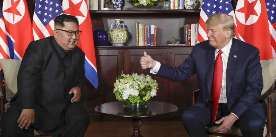 La entrega de los cuerpos se acordó en la histórica cumbre que Donald Trump y Kim Jong-un sostuvieron en Singapur. (AP) (horizontal-x3)