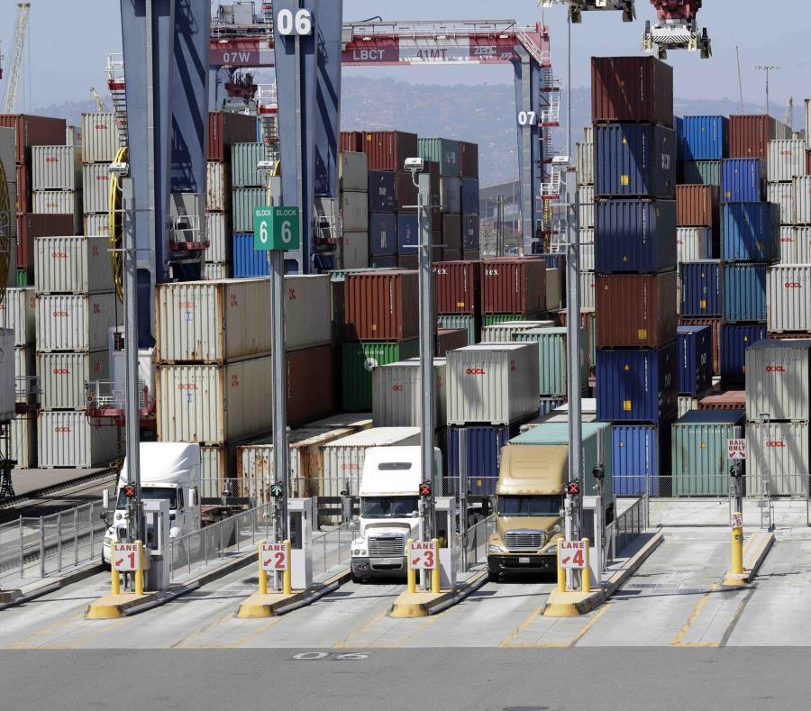 Imagen del puerto de Long Beach, California. (AP) (semisquare-x3)