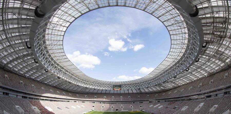 El estadio Luzhniki de Moscú, donde se realizará el partido inaugural de la Copa del Mundo entre Rusia y Arabia Saudí (horizontal-x3)