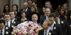 Así fue el funeral de Barbara Bush