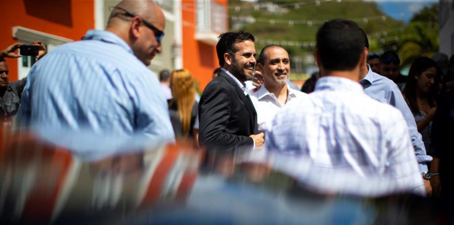 El presidente del Partido Nuevo Progresista (PNP), Ricardo Rosselló, junto al nuevo director de Finanzas de la colectividad, José I. Marrero. Rosselló Nevares adelantó que la Palma tendrá una nueva sede en los próximos meses. (horizontal-x3)