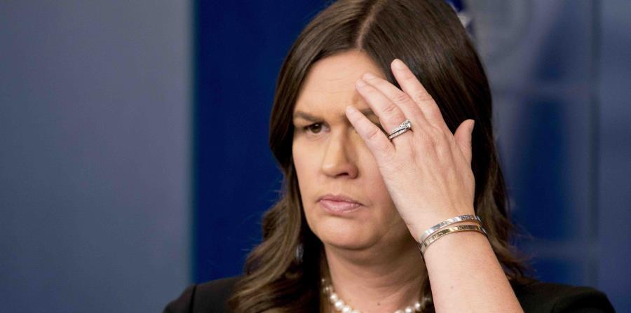 Sarah Huckabee Sanders, portavoz de la Casa Blanca. (AP) (horizontal-x3)