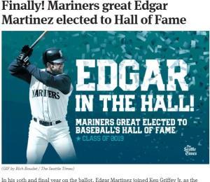 Celebran en Seattle la entrada de Edgar Martínez al Salón de la Fama