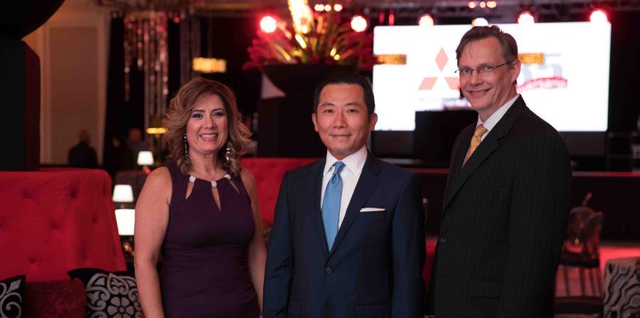 De izquierda a derecha: Madeline Nieves, vicepresodente Corporativa de MMSC; Shintaro Hirano, presidente y CEO de MMSC; y Johann Thorgeirsson, gerente general de MMSC. (horizontal-x3)