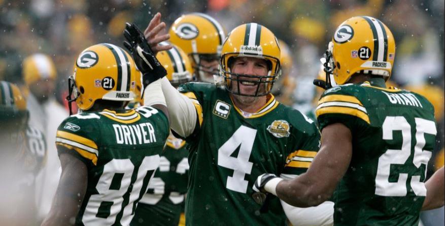 Brett Favre con los Green Bay Packers. (AP) (horizontal-x3)