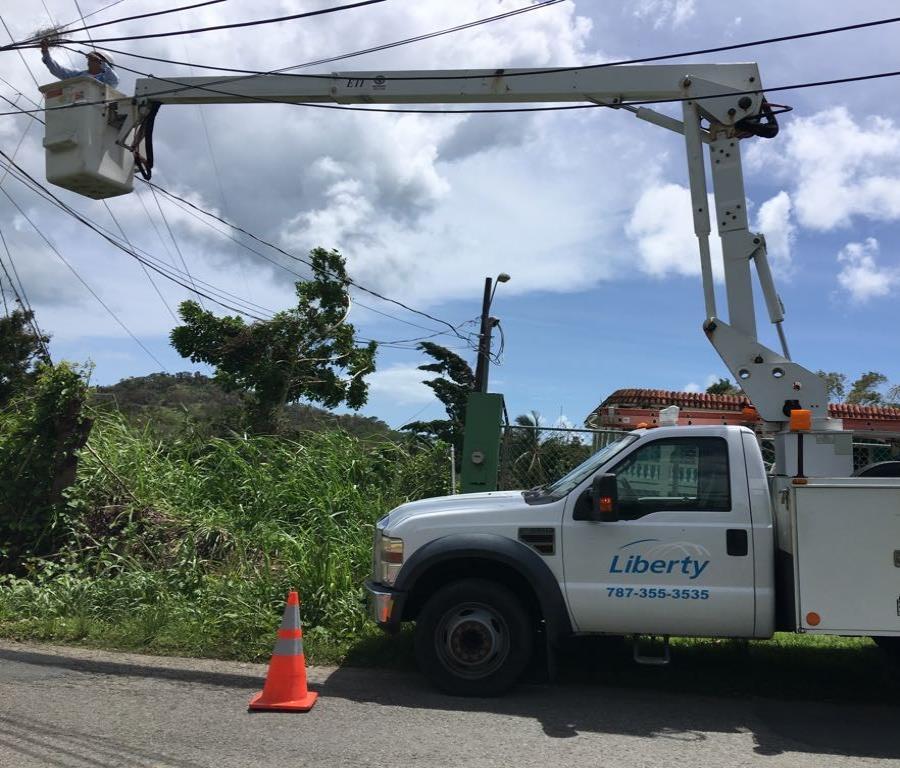 Liberty continúa trabajando en las áreas donde su infraestructura sufrió daños. (Suministrada) (semisquare-x3)