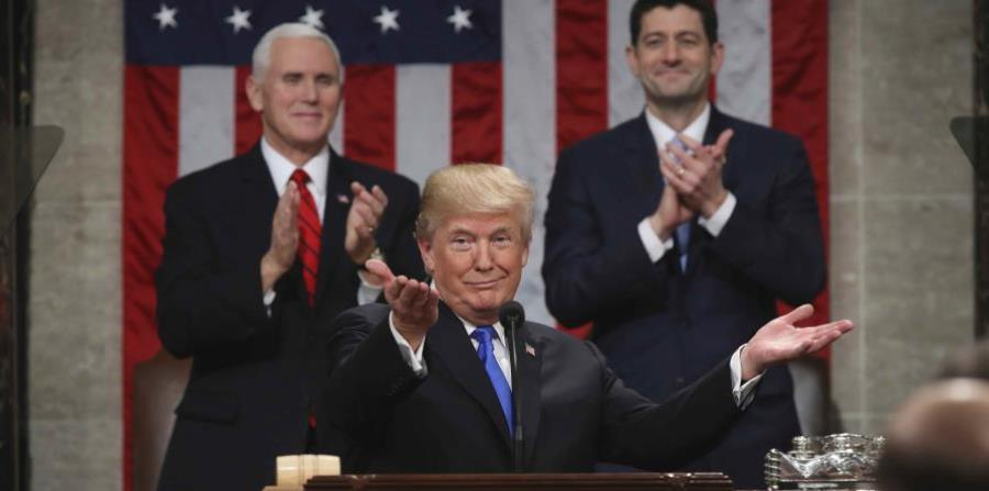 Donald Trumo during his message of State of the Union. (horizontal-x3)