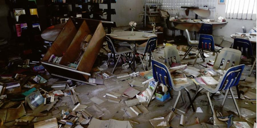 Nearly four weeks after Hurricane Maria, the Department of Education has not yet had a census of the number of schools that were destroyed by the cyclone or the damage to the structures. (horizontal-x3)
