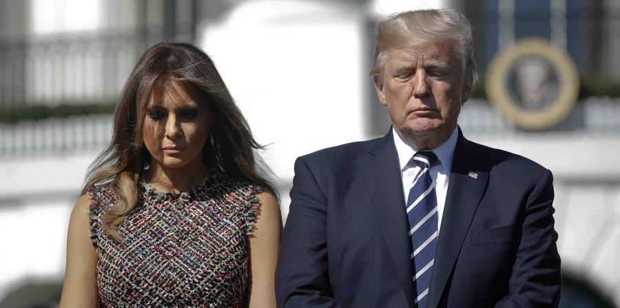 US President Donald Trump and his wife, Melania Trump, will travel to Puerto Rico aboard Air Force One. (horizontal-x3)