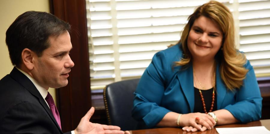 Florida Republican Senator Marco Rubio, along with Commissioner Jenniffer Gonzalez. (horizontal-x3)