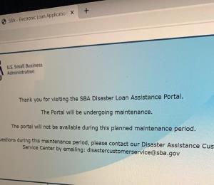 Avalancha en el portal de SBA provoca su colapso