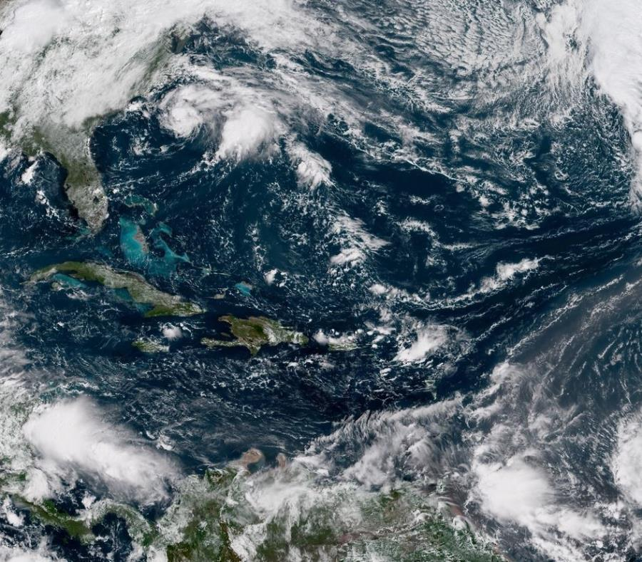 Imagen satelital de Caribe. (NOAA) (semisquare-x3)