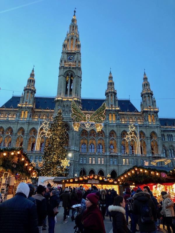Mercado navideño en Viena, Austria. (Gregorio Mayí / Especial para GFR Media)