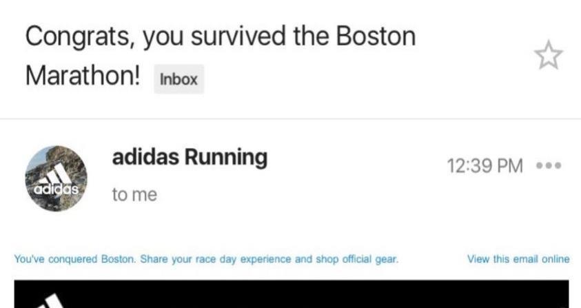 Adidas se disculpa por un desafortunado mensaje del maratón de Boston (horizontal-x3)