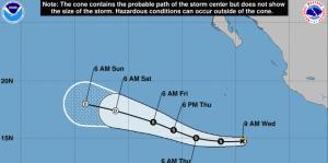 Se forma la tormenta tropical Alvin en el Pacífico