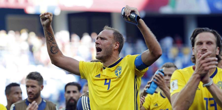 Andreas Granqvist, jugador de Suecia. (AP) (horizontal-x3)