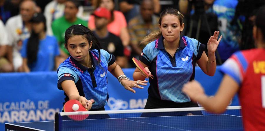 Melanie Díaz (izq.)_ y Daniely Ríos (der.) ascendieron en la más reciente actualización del escalafón mundial de la Federación Internacional de Tenis de Mesa. (horizontal-x3)