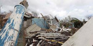 Devastado Ceiba tras el paso del huracán María