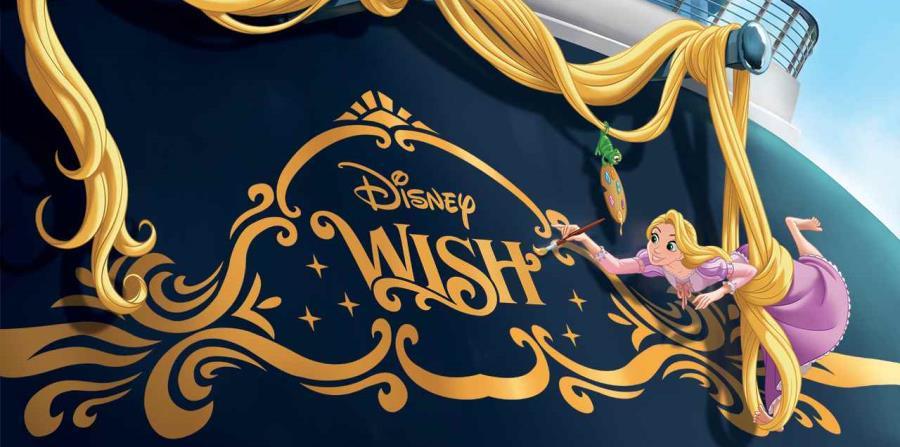 Para seguir la tradición de los barcos de Disney, el Wish tendrá uno de sus personajes destacados: Rapunzel. (Suministrada)