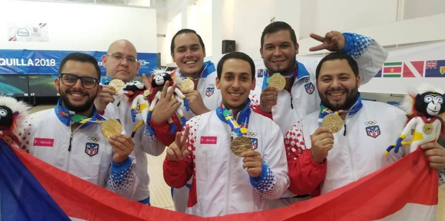 Andro Simounet, Jean Francisco Pérez y Cristian Azcona, parte del equipo masculino de bolos. (GFR Media) (horizontal-x3)