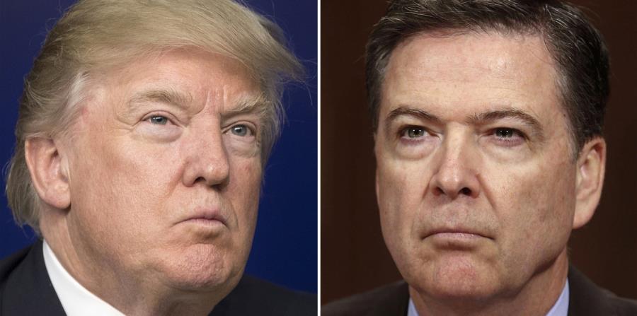 El presidente de los Estados Unidos, Donald Trump, destituyó la samana pasada al exdirector del FBI, James Comey. (horizontal-x3)