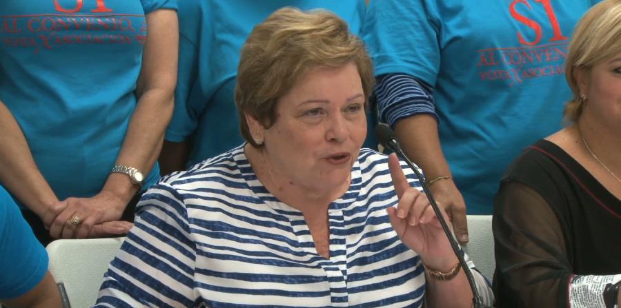 La presidenta de la AMPR, Aida Díaz, ofreció detalles en una rueda de prensa. (horizontal-x3)