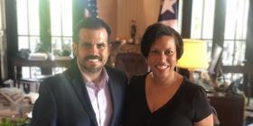 Rosselló recibe en La Fortaleza a la alcaldesa de Washington D.C.