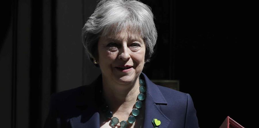 La primera ministra británica Theresa May en Londres. (horizontal-x3)