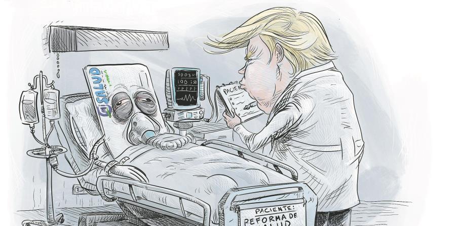 Donald J. Trump, Obamacare, Obama, Víctor Ramos, Jaime Plá (horizontal-x3)