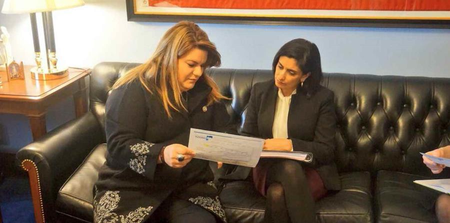 Jenniffer González se reunió con la administradora de CMS, Seema Verma. (Suministrada) (horizontal-x3)
