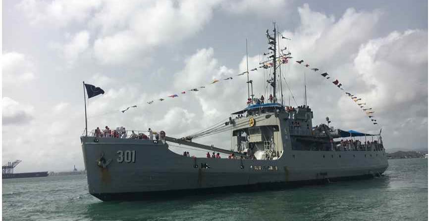 El buque a su llegada a San Juan. (Luis A. López Colón / Especial El Nuevo Día) (horizontal-x3)