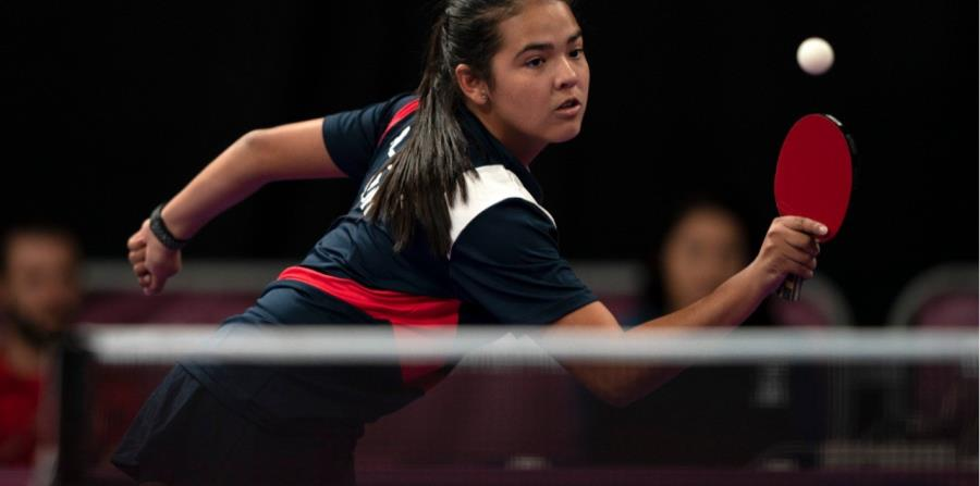 Adriana Díaz perdió en la ronda de octavos de final y quedó fuera a pesar de ganar de manera invicta la fase de grupos. (horizontal-x3)