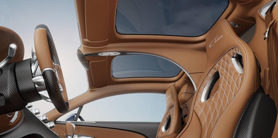 Bugatti Chiron con la opción Sky View