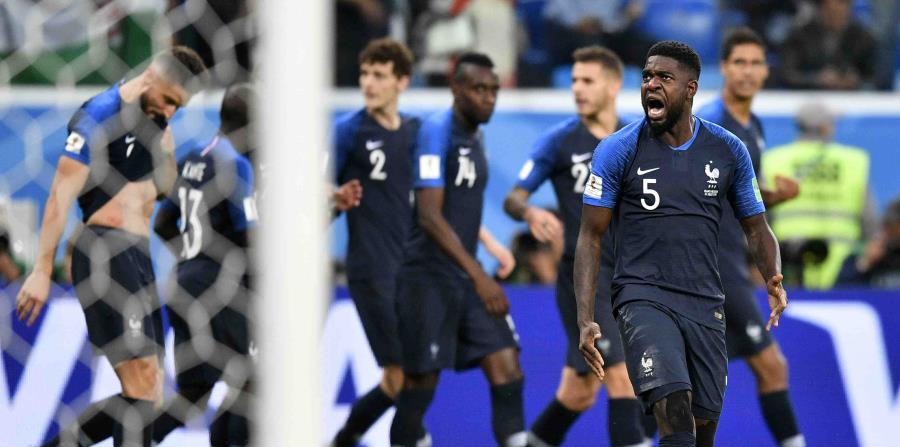 Samuel Umtiti fue el autor del gol de la victoria de Francia. (AP) (horizontal-x3)
