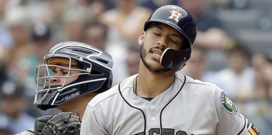 Carlos Correa estuvo lesionado en la pasada temporada con Houston. (AP) (horizontal-x3)