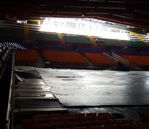 A pasar lista de los daños del huracán en las instalaciones deportivas