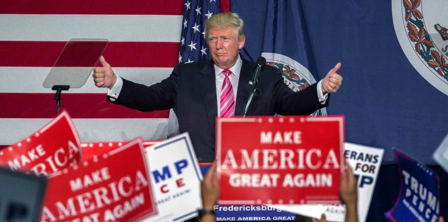 El presidente de Estados Unidos, Donald Trump, durante la campaña de 2016 (horizontal-x3)