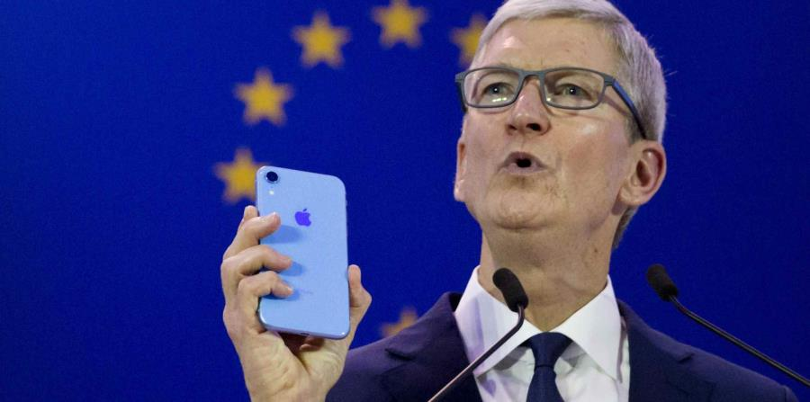 Tim Cook dijo que Apple respalda totalmente una ley federal integral de privacidad en Estados Unidos. (AP) (horizontal-x3)