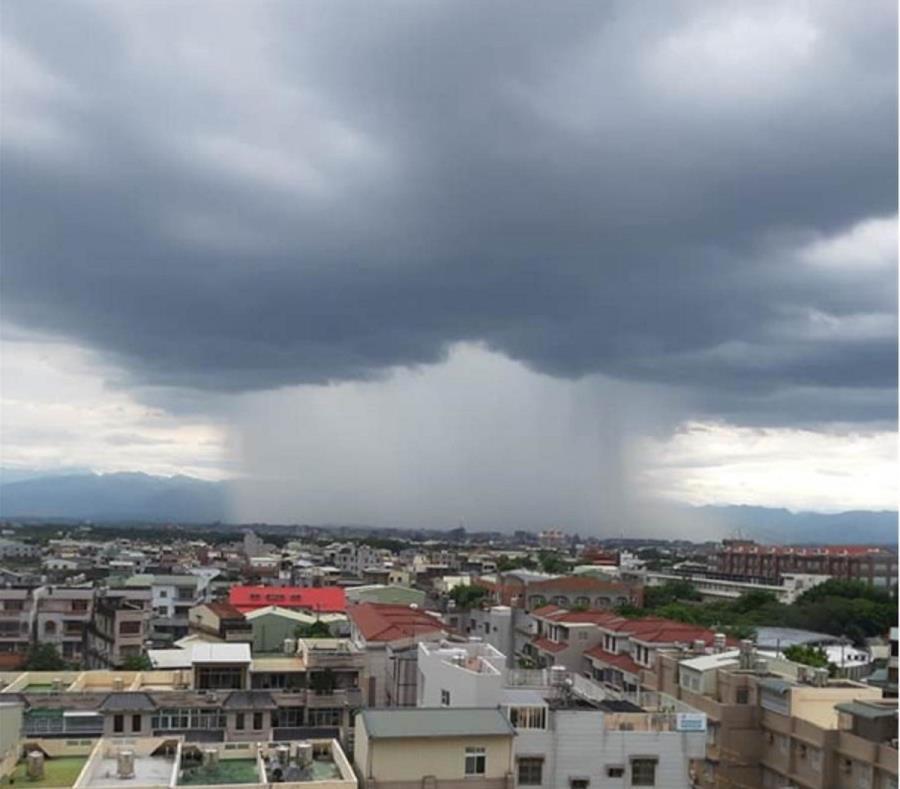 El intenso aguacero se registró en la ciudad taiwanesa de Chiayi (China). (Facebook) (semisquare-x3)