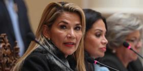 La presidenta interina de Bolivia envía al Parlamento un proyecto para convocar a elecciones