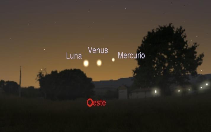 Dos planetas se alinean con la Luna (horizontal-x3)