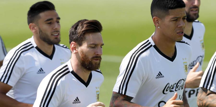 El equipo de Argentina entrenó esta mañana. (AP) (horizontal-x3)