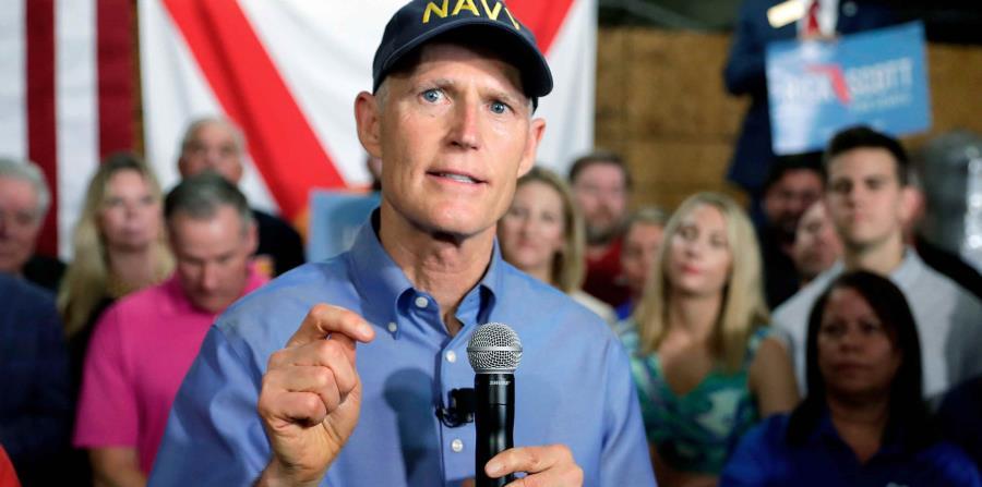 En la foto está Rick Scott, gobernador de Florida. (horizontal-x3)