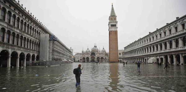 Impresionantes imágenes de las inundaciones en Venecia