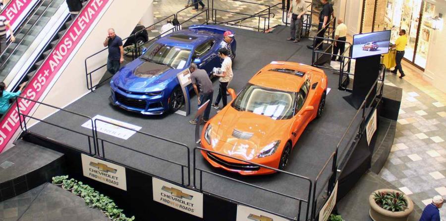 Área de exhibición de General Motors.