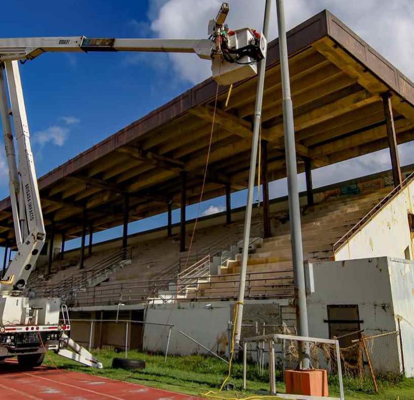 Imagen del proceso de reconstrucción del estadio Sixto Escobar. (semisquare-x3)
