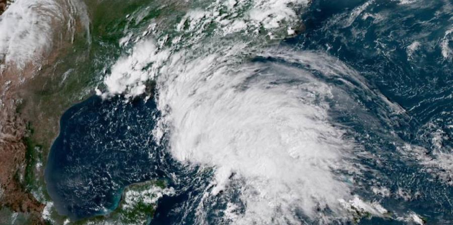 Imagen satelital de la tormenta tropical Alberto. (NOAA) (horizontal-x3)