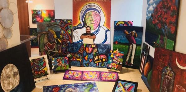 Creaciones artísticas de Vicente Báez